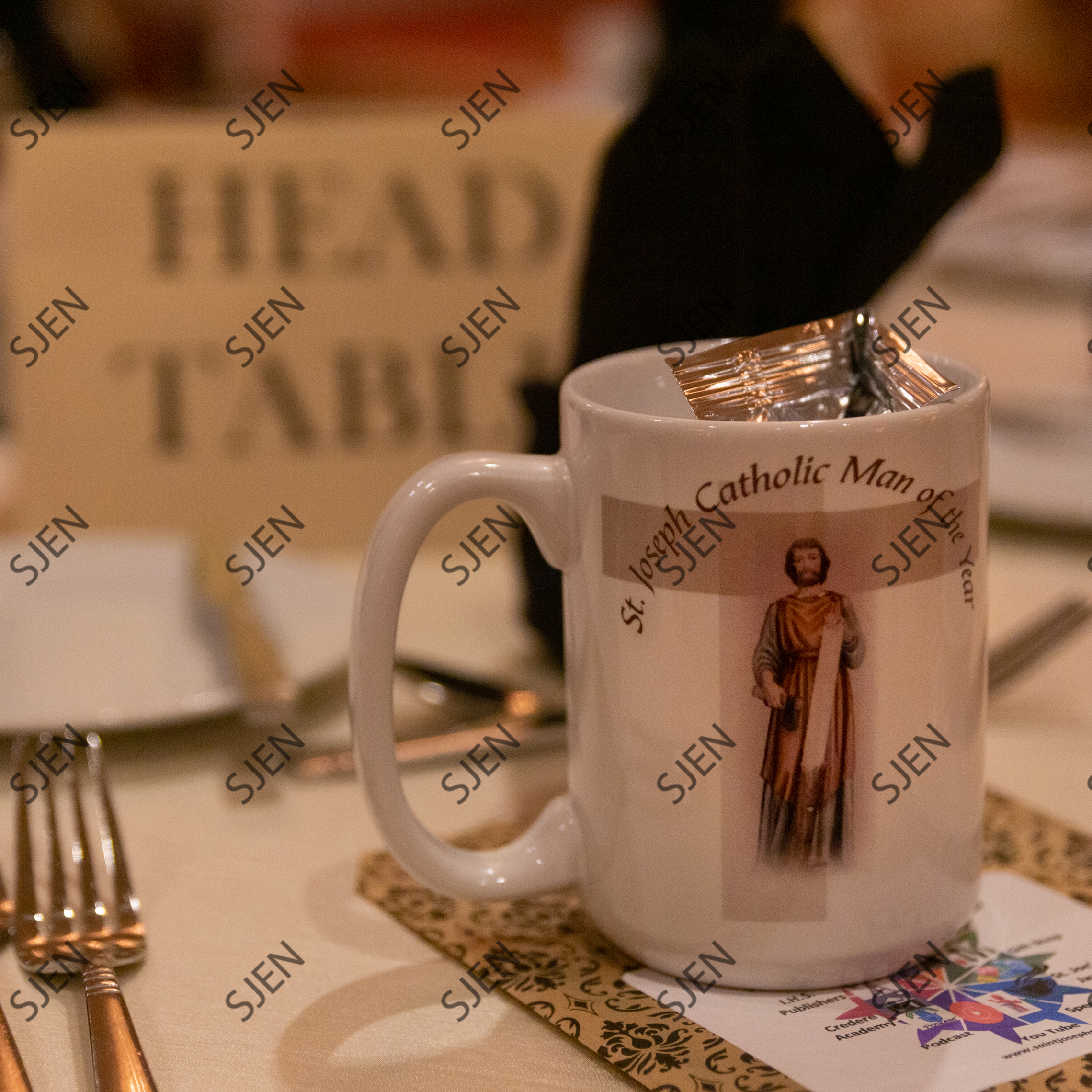 Catholic Man of the Year Head Table